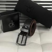 Мужской кожаный ремень для джинс (404) коричневый