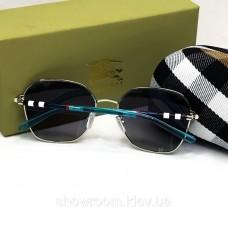 Женские брендовые солнцезащитные очки Burberry (3141) silver