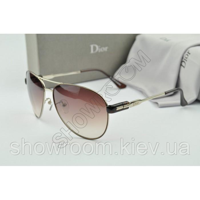 Женские солнцезащитные очки авиаторы Homme (коричневая оправа)