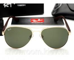 Женские солнцезащитные очки Ray Ban 3523 gold