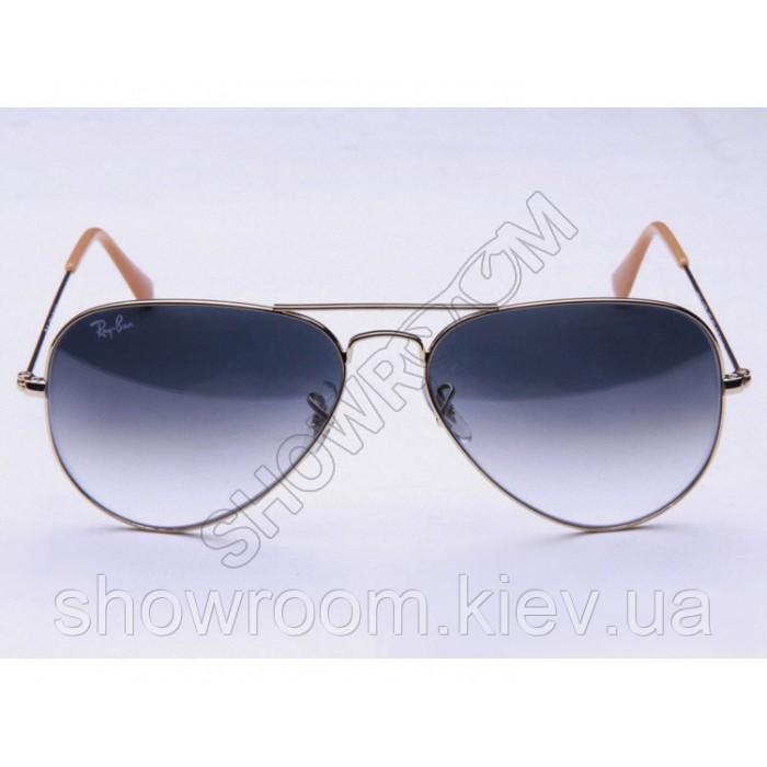 Женские солнцезащитные очки в стиле RB 3026 aviator large metal 001/32  (Lux)