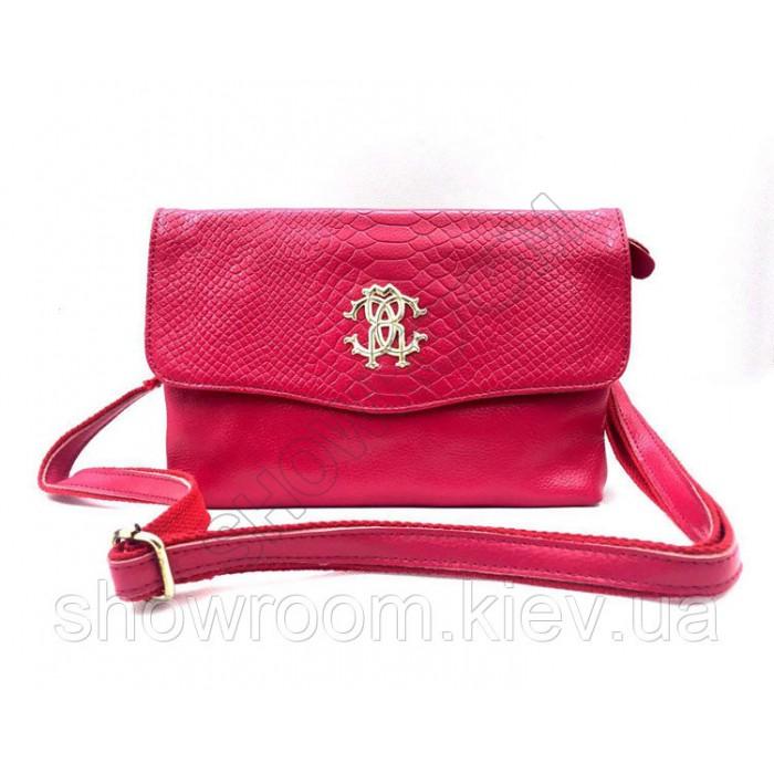 Клатч сумка из натуральной кожи (1011) red