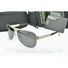 Сонцезахисні окуляри Porsche Design c поляризацією (p-8496) срібна оправа