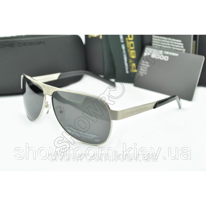 Солнцезащитные очки Porsche Design c поляризацией (p-8496) серебрянная оправа