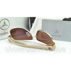 Сонцезахисні окуляри Mercedes (618) золота оправа