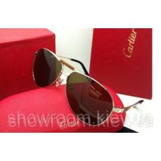 Сонцезахисні окуляри Cartier (135) золота оправа