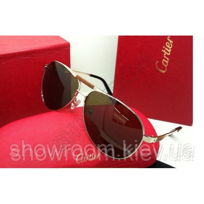 Солнцезащитные очки Cartier (135) золотая оправа