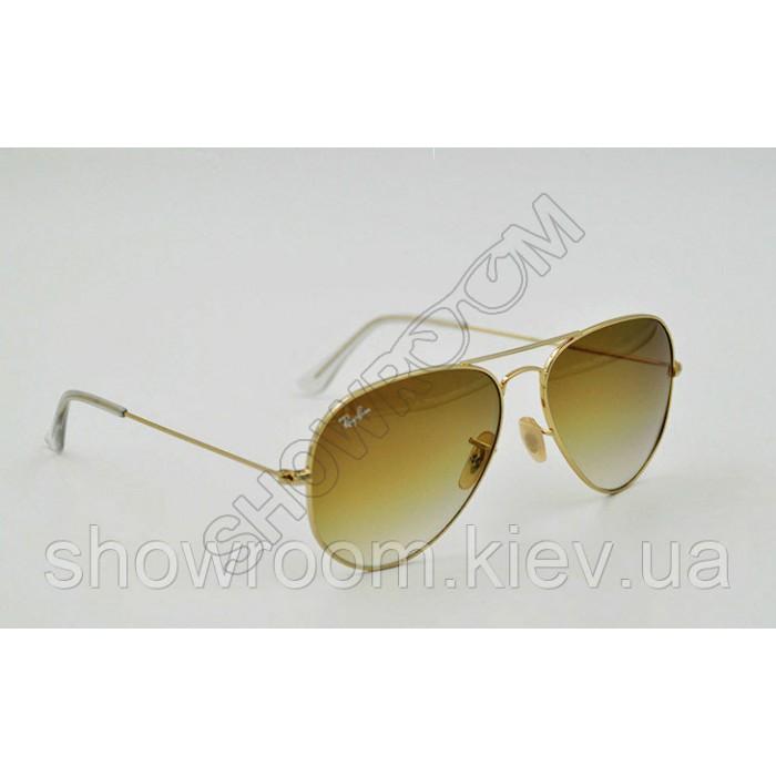 Женские солнцезащитные очки Ray Ban aviator 3025,3026 gradient Lux
