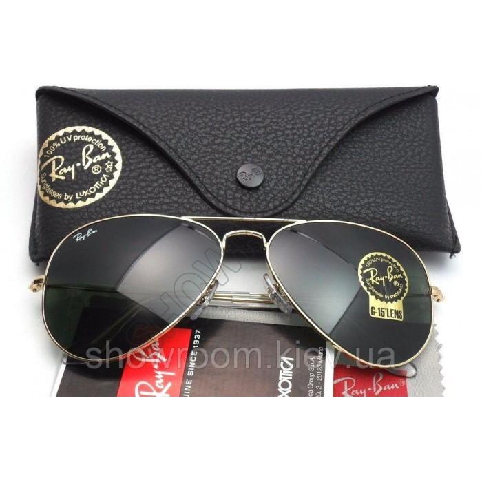 Мужские солнцезащитные очки RAY BAN aviator 3025,3026 (001/62) Lux
