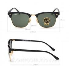 Жіночі сонцезахисні окуляри RAY BAN 3016 clubmaster black LUX