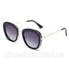 Брендові жіночі сонцезахисні окуляри (15032) black