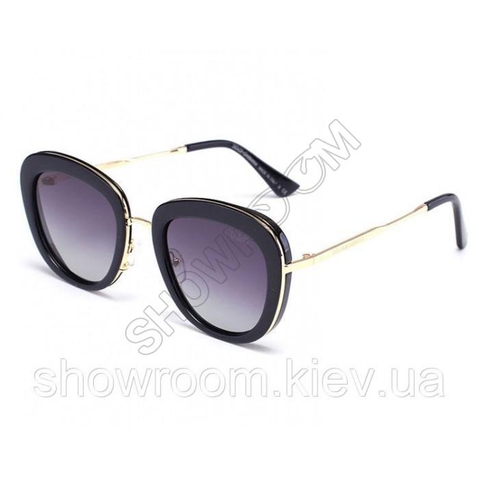 Брендовые женские солнцезащитные очки (15032) black