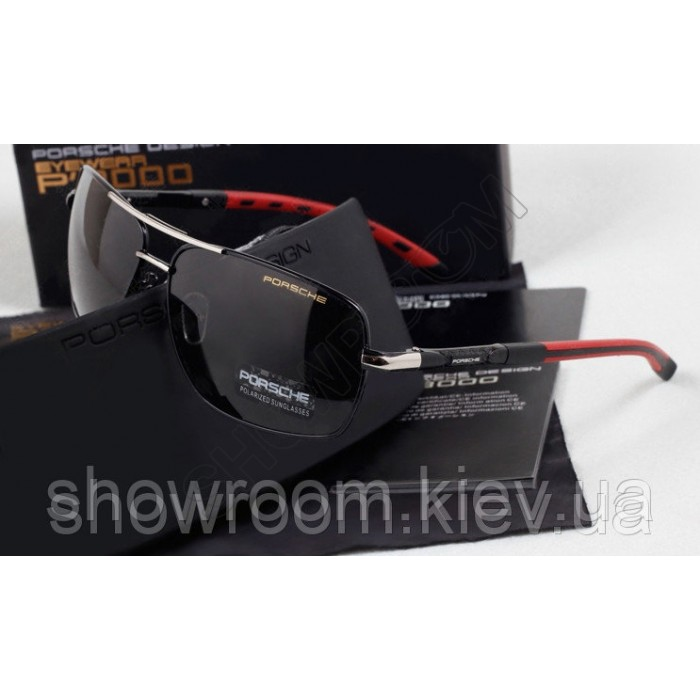 Солнцезащитные очки Porsche Design c поляризацией (p8724) красная дужка