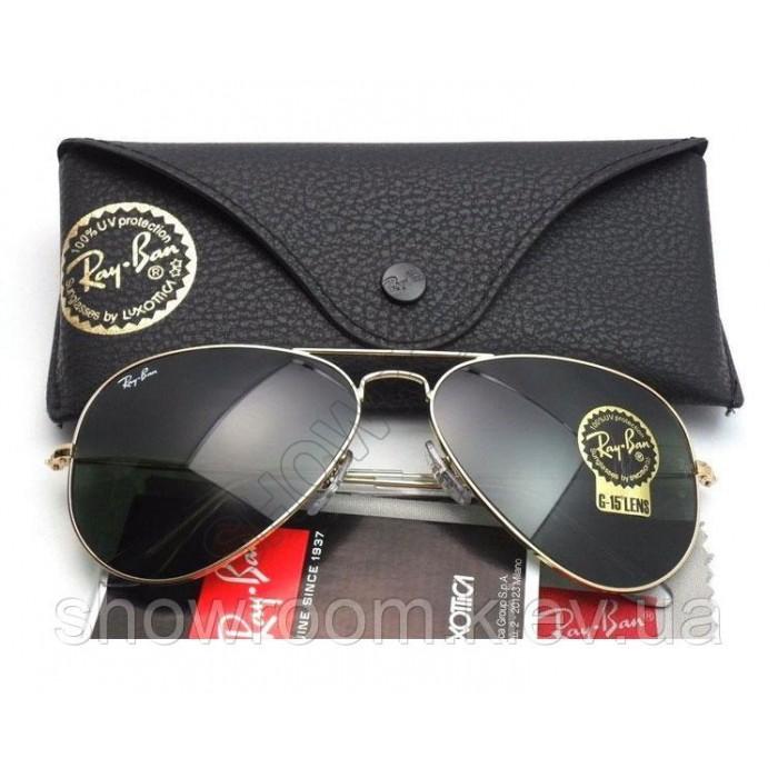Мужские солнцезащитные очки RAY BAN aviator 3026 (L2846) Lux