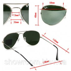 Жіночі сонцезахисні окуляри RAY BAN aviator (золота оправа)