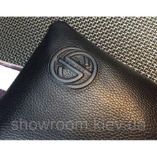 Мужской кожаный клатч  (7801) black