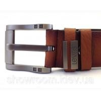 Мужской кожаный ремень в стиле levis (507) brown