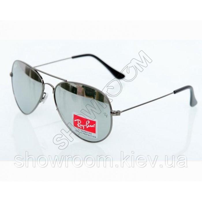 Мужские солнцезащитные очки RAY BAN aviator (3026) grey