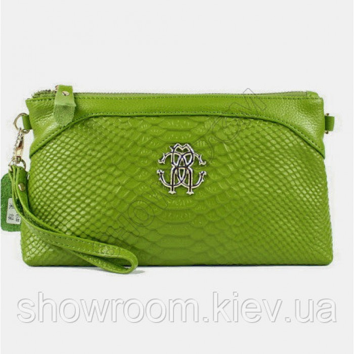 Клатч сумка из натуральной кожи (1012) green