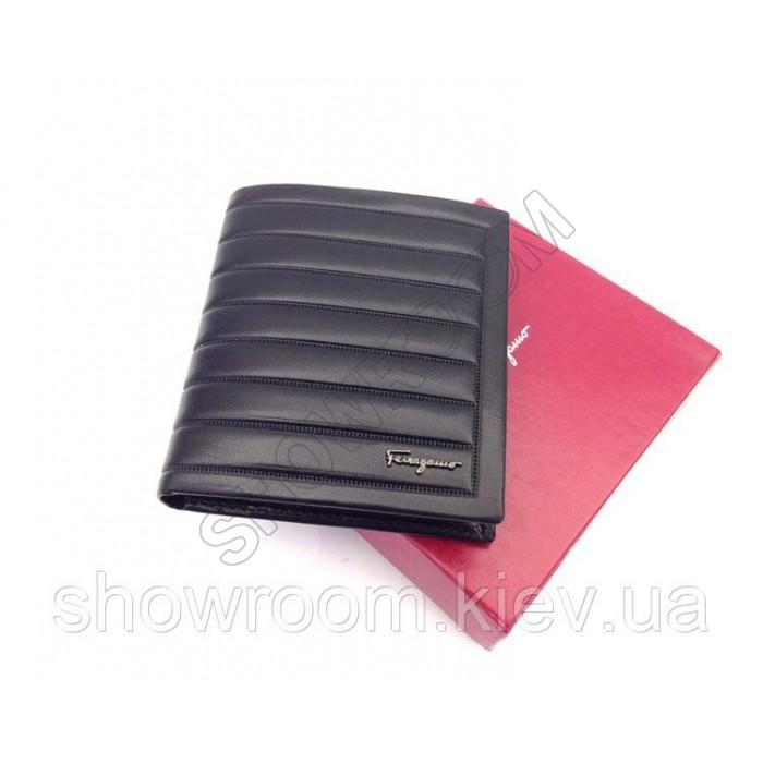 Мужское портмоне Salvatore Ferragamo (F-7113) black leather