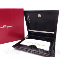 Мужское портмоне Salvatore Ferragamo (F-7113) black leather