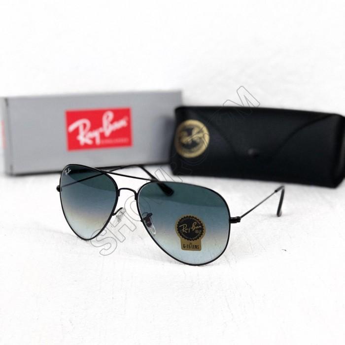 Женские солнцезащитные очки авиаторы Ray Ban black
