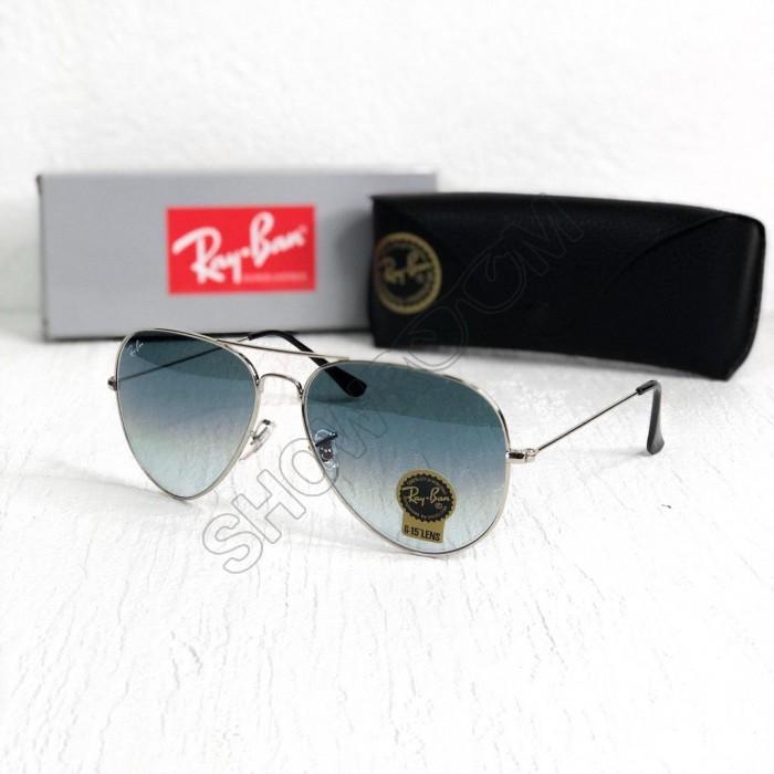 Женские солнцезащитные очки авиаторы Ray Ban silver