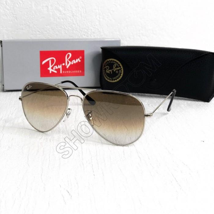 Женские солнцезащитные очки авиаторы Ray Ban brown