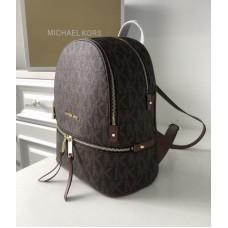 Жіночий шкіряний брендовий рюкзак Michael Kors Rhea Zip B Lux