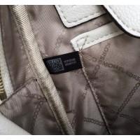 Женский кожаный брендовый рюкзак Michael Kors Rhea Zip G White Lux
