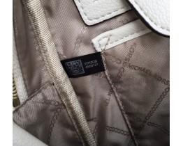 Жіночий шкіряний брендовий рюкзак Michael Kors Rhea Zip G White Lux