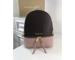 Жіночий шкіряний брендовий рюкзак Michael Kors Rhea Zip (1344) Lux