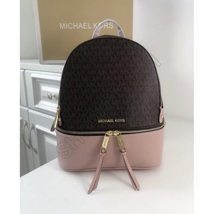 Женский кожаный брендовый рюкзак Michael Kors Rhea Zip (1344) Lux