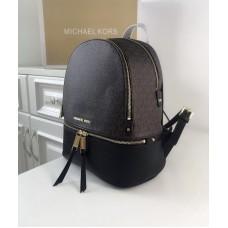 Жіночий шкіряний брендовий рюкзак Michael Kors Rhea Zip (1133) Lux