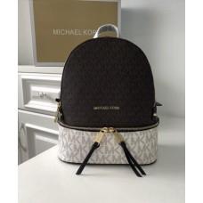 Женский кожаный брендовый рюкзак Michael Kors Rhea Zip (1122) Lux