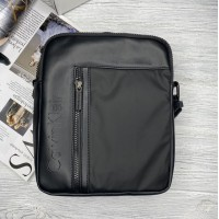 Брендовая мужская сумка через плечо (080) black