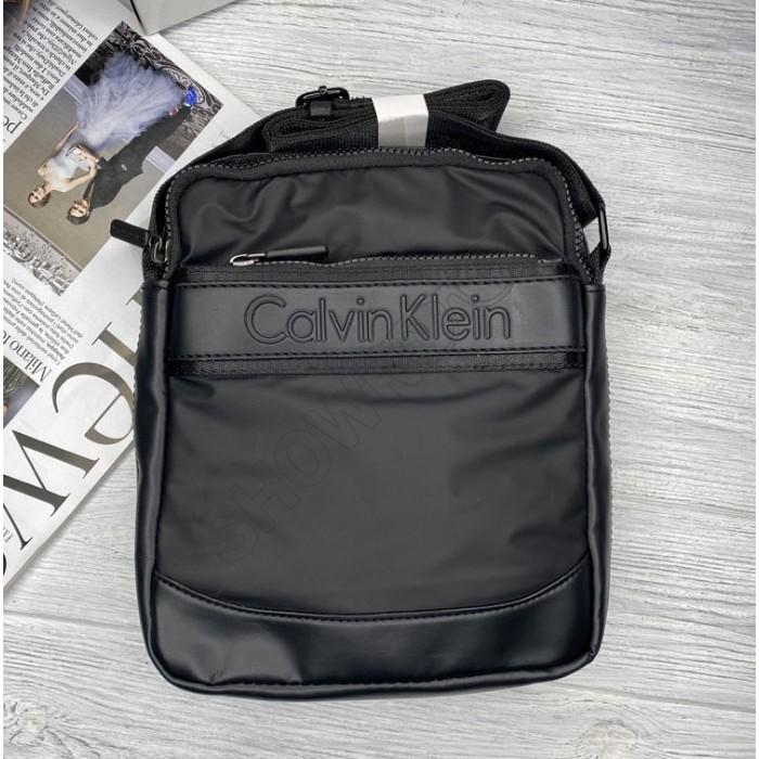 Брендовая мужская сумка через плечо (060) black