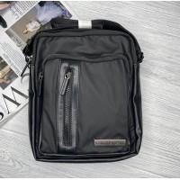 Брендовая мужская сумка через плечо (994) black