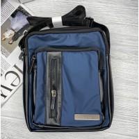 Брендовая мужская сумка через плечо (994) blue