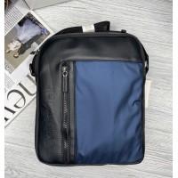 Брендовая мужская сумка через плечо (080) blue