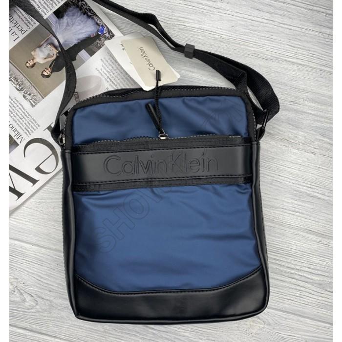 Брендовая мужская сумка через плечо (060) blue