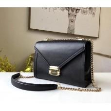 Женская кожаная сумка Mk Whitney black Lux