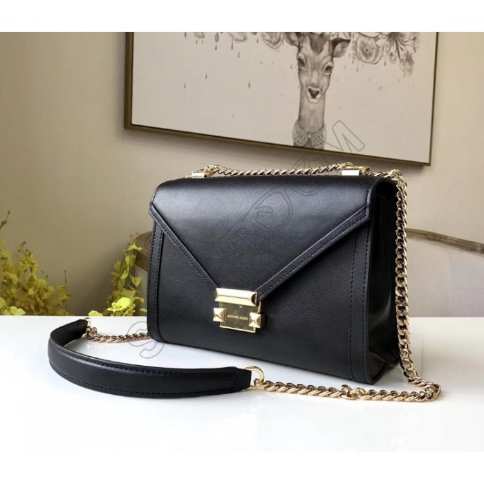 Жіноча шкіряна сумка Mk Whitney black Lux
