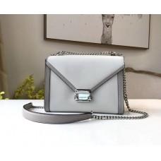 Женская кожаная сумка Mk Whitney grey Lux